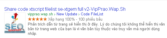Share code đánh giá 5 sao lên google cho xtgem
