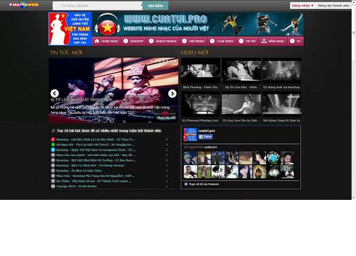 Share code web Nhạc DJ của dj.cuatui.pro