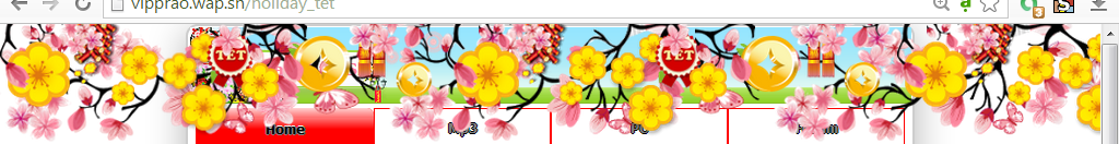 Share code dàn hoa nằm trên header kèm nhạc đẹp