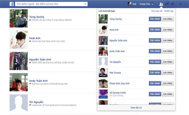 Code tự động xác nhận tất cả Lời mời Kết bạn trên Facebook